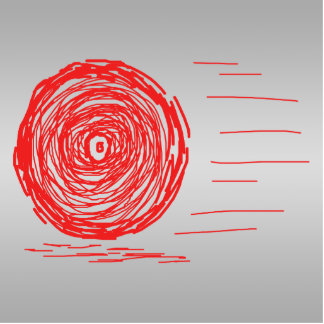 Fast. Rush. Symbol in Red on Gray. Photo Cut Outs