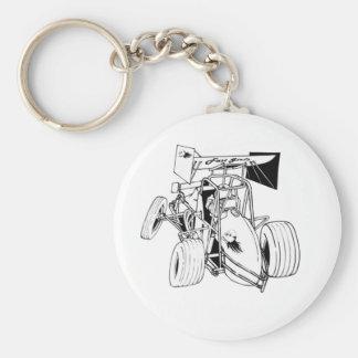 Fast Sprints Sprint Car Series Basic Round Button Keychain