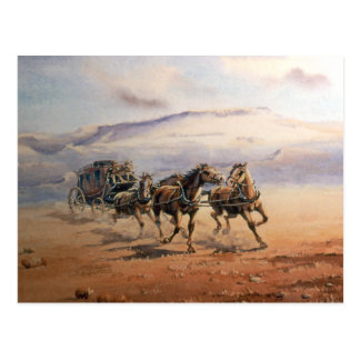 FAST STAGECOACH by SHARON SHARPE Post Card