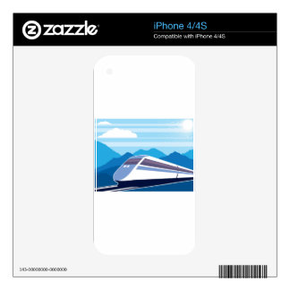Fast Train Decal For The iPhone 4S