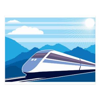 Fast Train Postcard