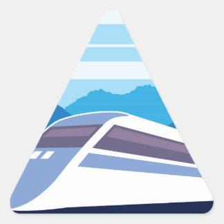 Fast Train Triangle Sticker