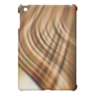 Fast Waves Texture: Golden Brown Motion Trails iPad Mini Cases