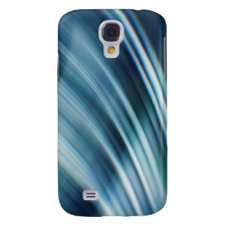 Fast Waves Texture: Stormy Blue Motion Trails Galaxy S4 Covers