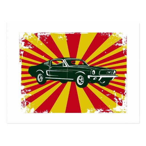 Fastback 1968 del mustango de Ford Tarjetas Postales
