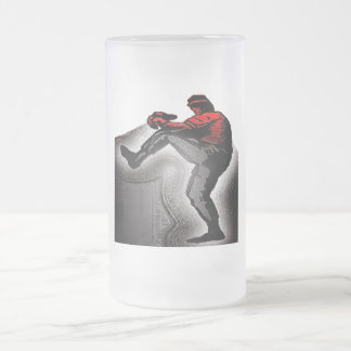 FASTBALL PITCHER 16 OZ FROSTED GLASS BEER MUG