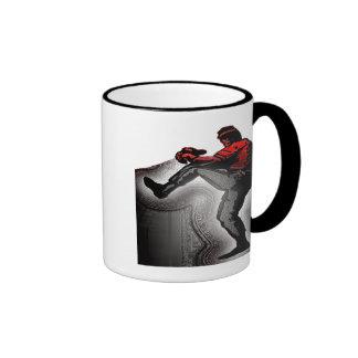 FASTBALL PITCHER RINGER COFFEE MUG