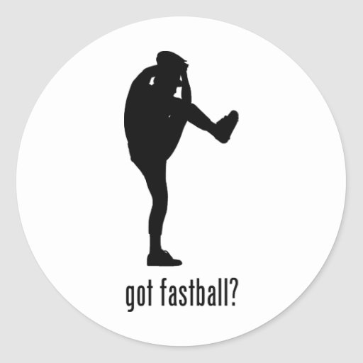 Fastball Round Sticker