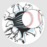 Fastball T-shirts and Gifts. Classic Round Sticker