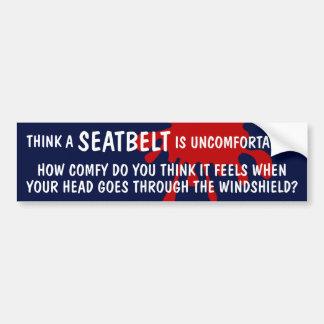 FASTEN-ating Bumper Sticker About Seatbelts