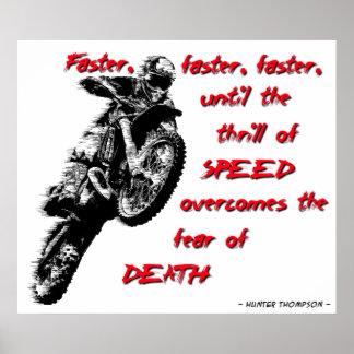 Faster Dirt Bike Motocross Poster