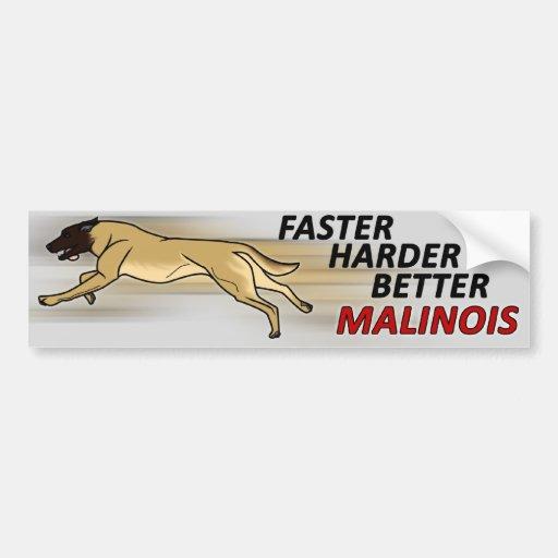 Faster, Harder, Better Bumper Sticker