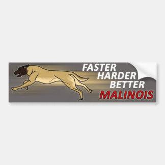 Faster, Harder, Better Car Bumper Sticker