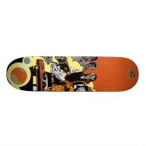 artsprojekt, faster than go skate deck, jim, mahfood, food, one, 40oz, comics, clerks, grrl scouts, colt 45, stupid, page, filler, man, live art, live, art, z-trip, murs, felt, true, tales, underground, hip, hop, sarah, silverman, program, frenchpulp, mahf, earthworms, comic, books., jim mahfood, jim mahfood skateboards, food one skateboards, 40 oz comics skateboards, food one, 40 oz comics, Skateboard com design gráfico personalizado