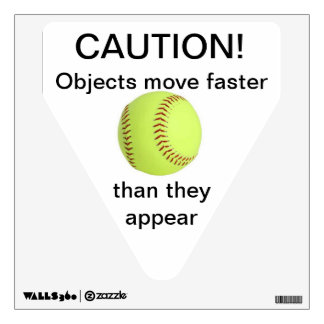 Faster than they appear wall stickers