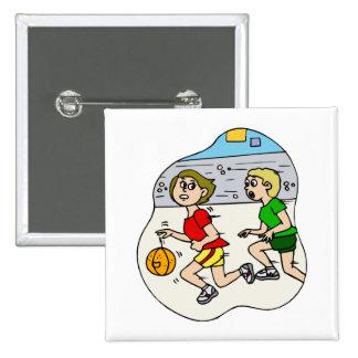 Fastest basketball girl pinback button