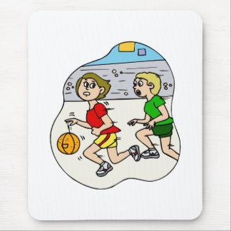 Fastest basketball girl mouse pad
