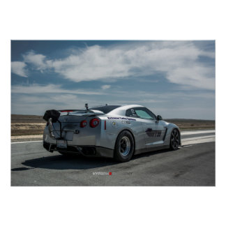 Fastest Nissan GT-R in the world 1700whp Poster