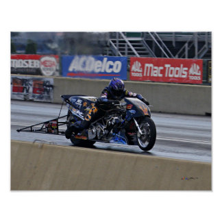 """Fastest Top Fuel Drag Bike on the Planet"" Poster"