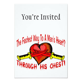 Fastest Way To A Mans Heart 5x7 Paper Invitation Card