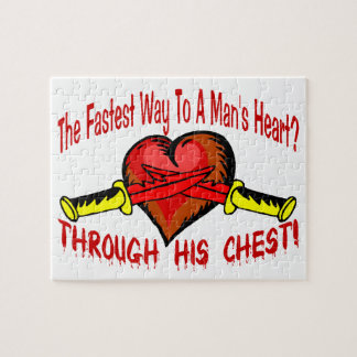 Fastest Way To A Mans Heart Jigsaw Puzzle
