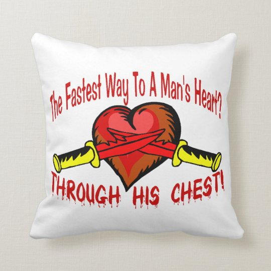 Fastest Way To A Mans Heart Throw Pillow