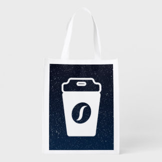 Fastfood Drinks Icon Reusable Grocery Bags