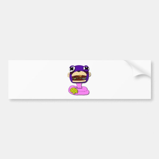 FASTFOOD MONKEY BUMPER STICKER