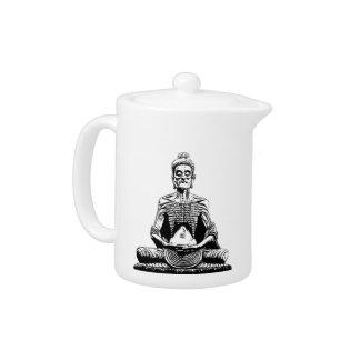 Fasting Buddha Statue image buddhism Teapot