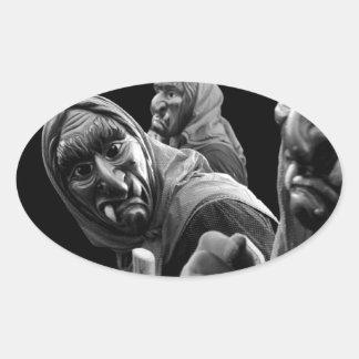 Fastnacht Oval Sticker