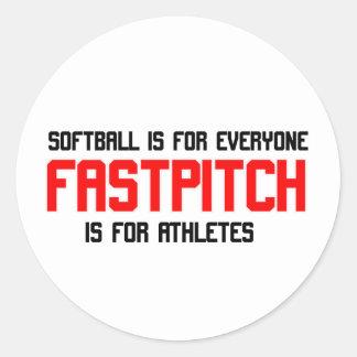 FastPitch Classic Round Sticker