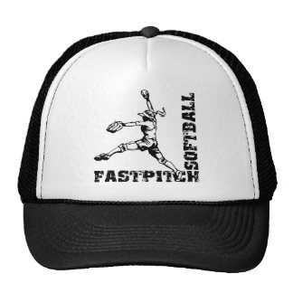 Fastpitch Corner, black Trucker Hat