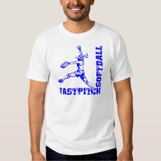 Fastpitch Corner, blue T-shirt