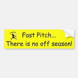 Fastpitch Girl's Softball Bumper Sticker