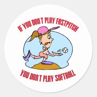 Fastpitch is Softball Classic Round Sticker