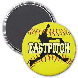 Fastpitch 3 Inch Round Magnet