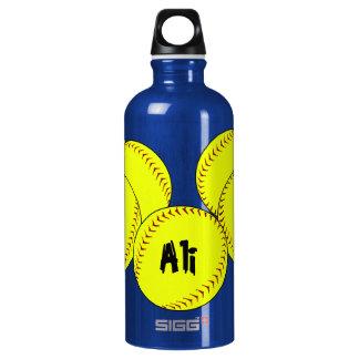 Fastpitch Softball Aluminum Water Bottle