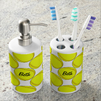 Fastpitch Softball Bathroom Set