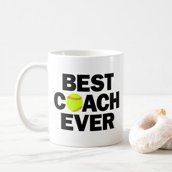 Fastpitch Softball Best Coach Ever Coffee Mug Zazzle Com