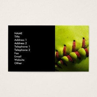 Fastpitch Softball Business Card