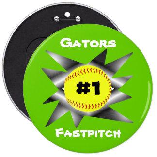 Fastpitch Softball Button