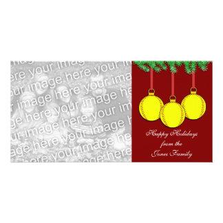 Fastpitch Softball Christmas Photo Card