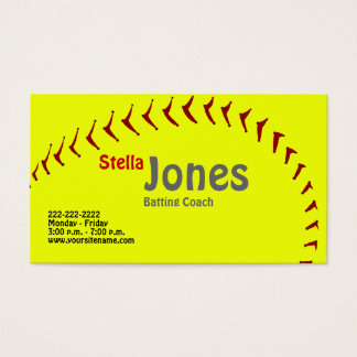 Fastpitch Softball Coach's Profile Cards