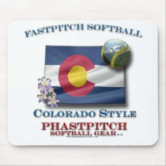 Fastpitch Softball Colorado style Mouse Pad