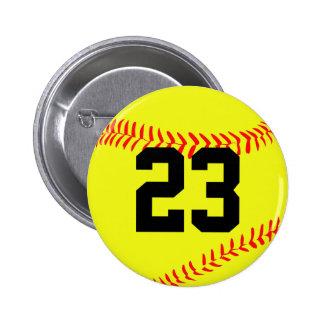 Fastpitch Softball Customizable Button Pin