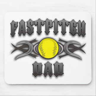 Fastpitch Softball Dad Tribal Mouse Pad
