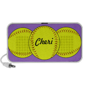 Fastpitch Softball Doodle Speaker