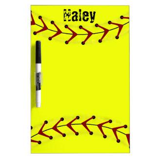 Fastpitch Softball Dry Erase Board