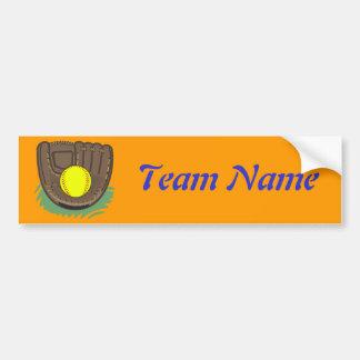 Fastpitch Softball Glove Bumper Sticker