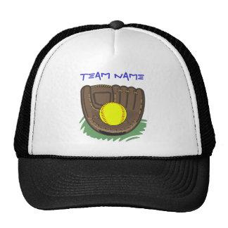 Fastpitch Softball Glove Cap Trucker Hat